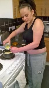 Moglie in cucina